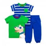 Set x3 Camisetas y Pantalón Perro con Gafas -Bebito (0-24 Meses)