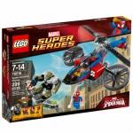 LEGO Súper Héroes-Rescate En El Helicóptero Araña