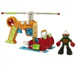 Figura Tortugas Ninja Helicóptero con Piloto Raph