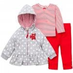 Set Chaqueta, Camiseta y Pantalón Rojo-Bebita